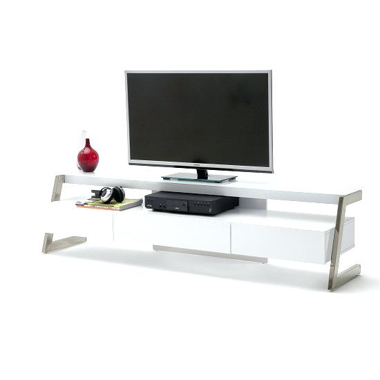 Favorite Oval White Tv Stand With Regard To White Glass Tv Stand In With High Gloss And 3 Drawers Oval – Naily (Image 3 of 25)