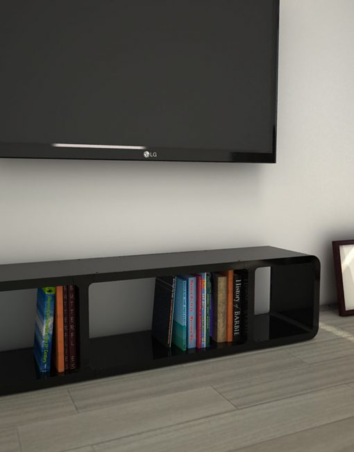 Favorite Slim Tv Stands Throughout Tm3 – Slim Low Profile Tv Stand (View 9 of 25)