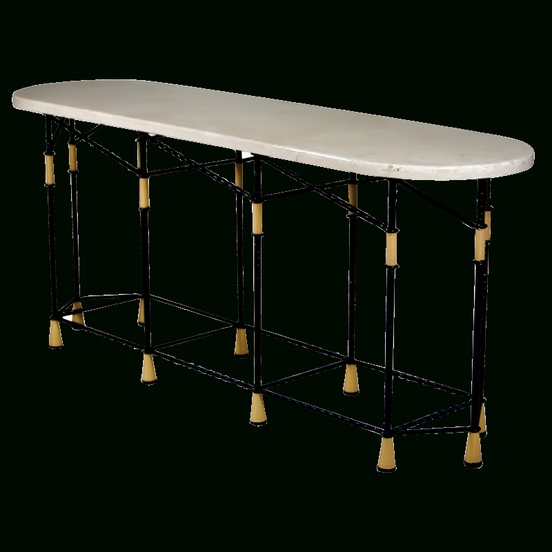 Favorite Walters Media Console Tables Inside Mirage Metal Console Table (Image 7 of 25)