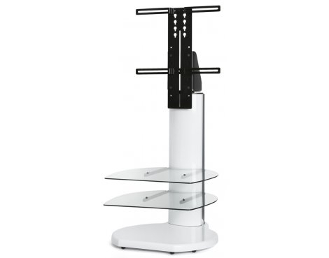 Favorite White Cantilever Tv Stand Intended For Origin Ii S4 White Cantilever Tv Stand – With Soundbar Bracket (Photo 7 of 25)