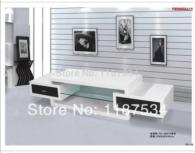 Fd8807 Living Room Furniture White High Gloss Mdf Tv Stand Tv Bench Inside Well Known Tv Bench White Gloss (View 7 of 25)