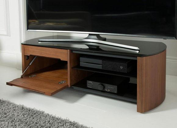 Finewoods Tv Cabinet Stand In Walnut (Image 13 of 25)
