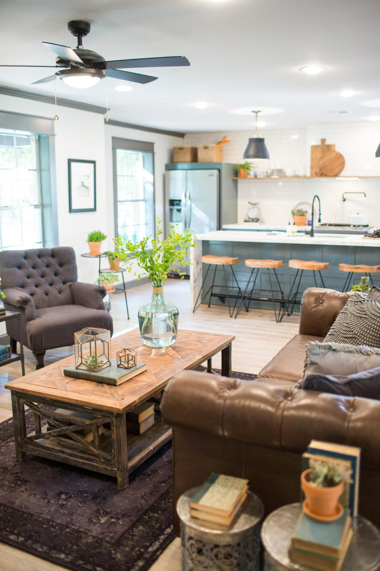 Fixer Upper | Filling The Living Room Void | Pinterest | House, Home Inside Magnolia Home Foundation Leather Sofa Chairs (View 7 of 25)