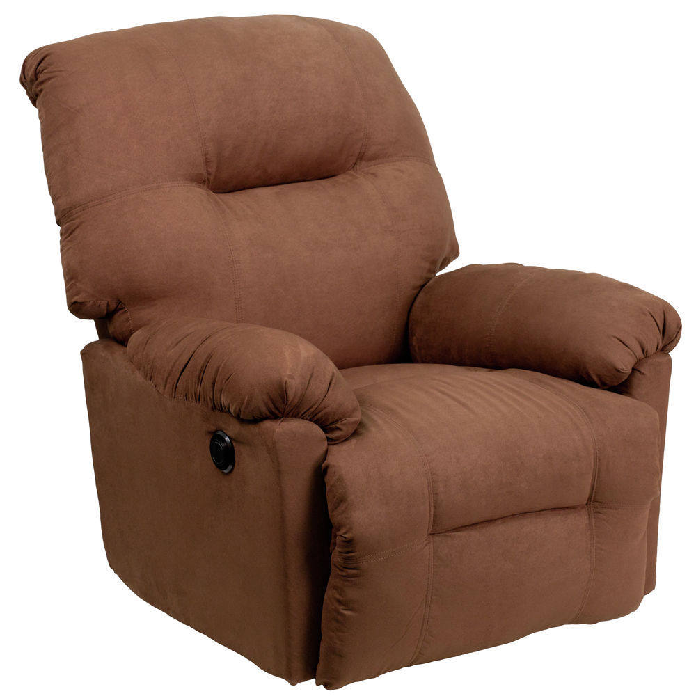 Flash Furniture Chocolate Mic Power Recliner intended for Hercules Chocolate Swivel Glider Recliners