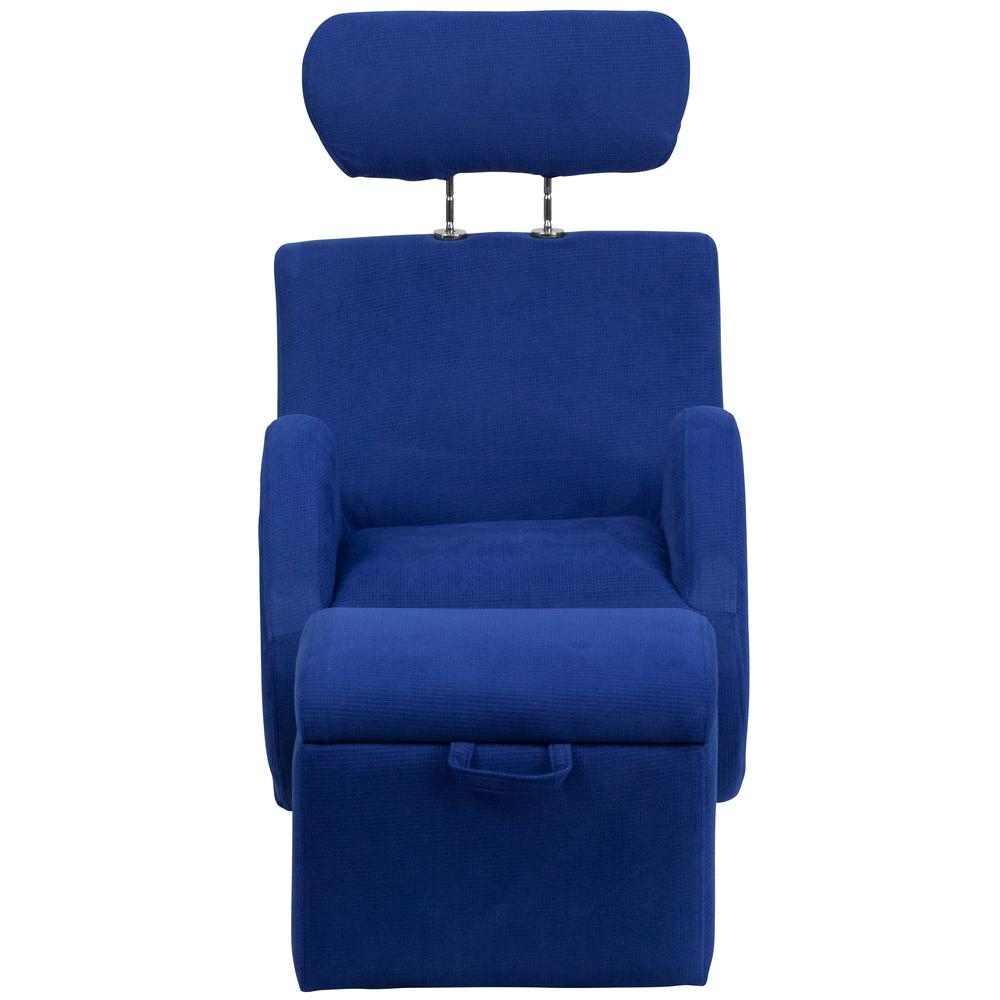 Flash Furniture Hercules Series Blue Fabric Rocking Chair With With Regard To Hercules Grey Swivel Glider Recliners (View 8 of 25)