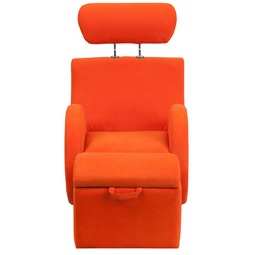 Flash Furniture Hercules Series Orange Fabric Rocking Chair With Within Hercules Grey Swivel Glider Recliners (View 24 of 25)