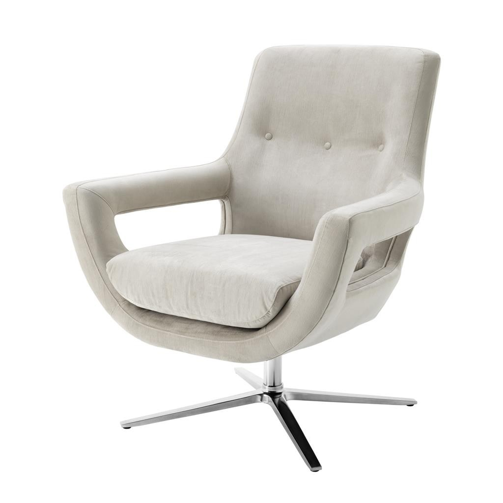 Flavio Pebble Grey Swivel Chair | Shop Now In Grey Swivel Chairs (View 16 of 25)