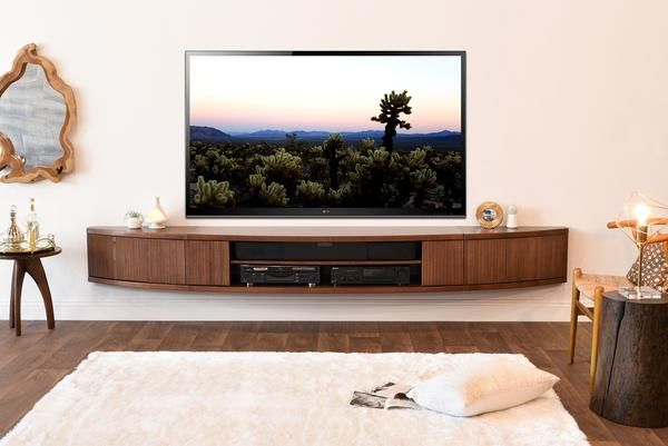 Floating Tv Stand Mid Century Modern Entertainment Center – Arc Regarding Most Current Century Sky 60 Inch Tv Stands (View 22 of 25)