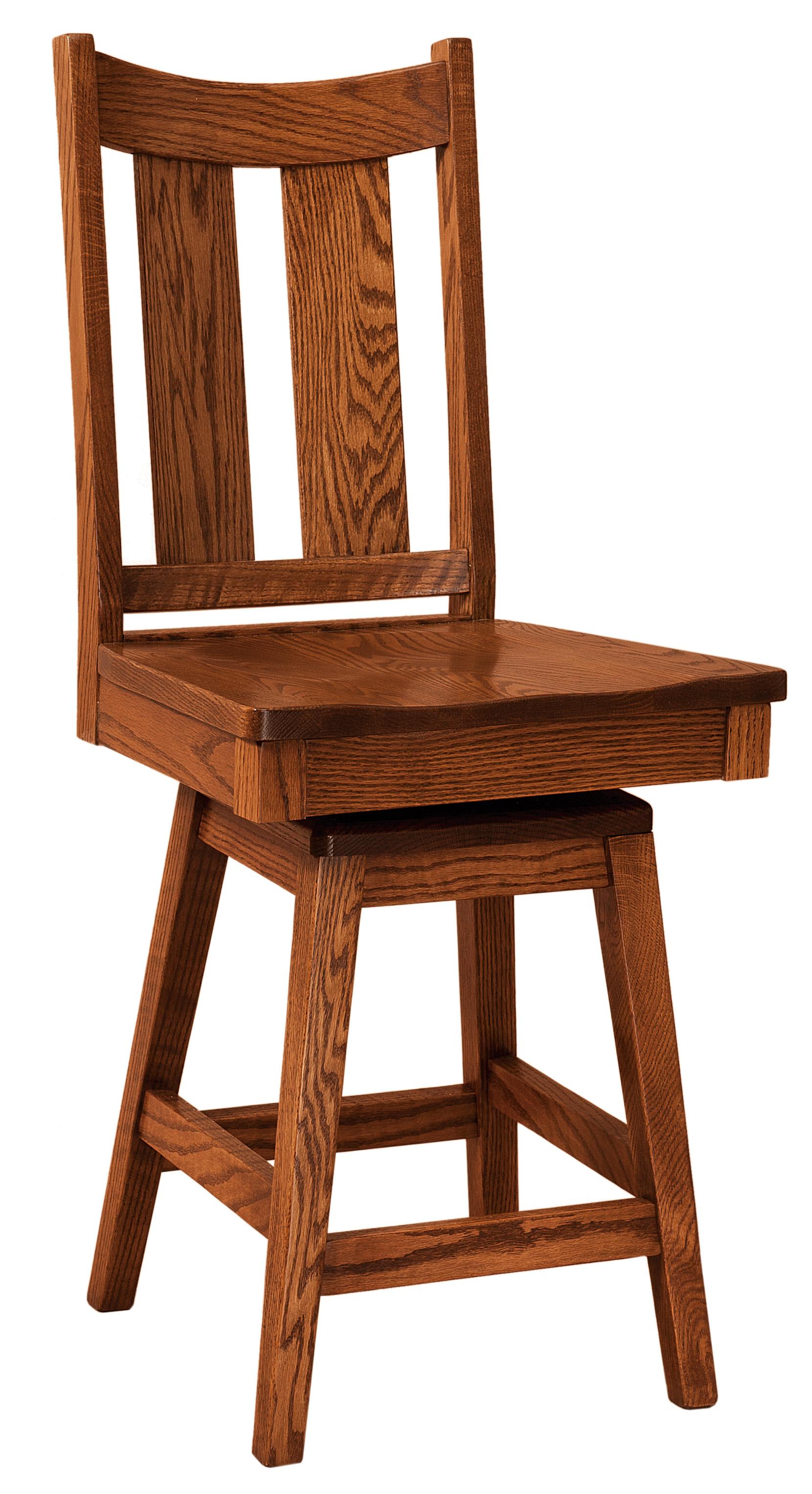 F&n Woodworking Aspen Swivel Bar Stool Pertaining To Aspen Swivel Chairs (View 10 of 25)