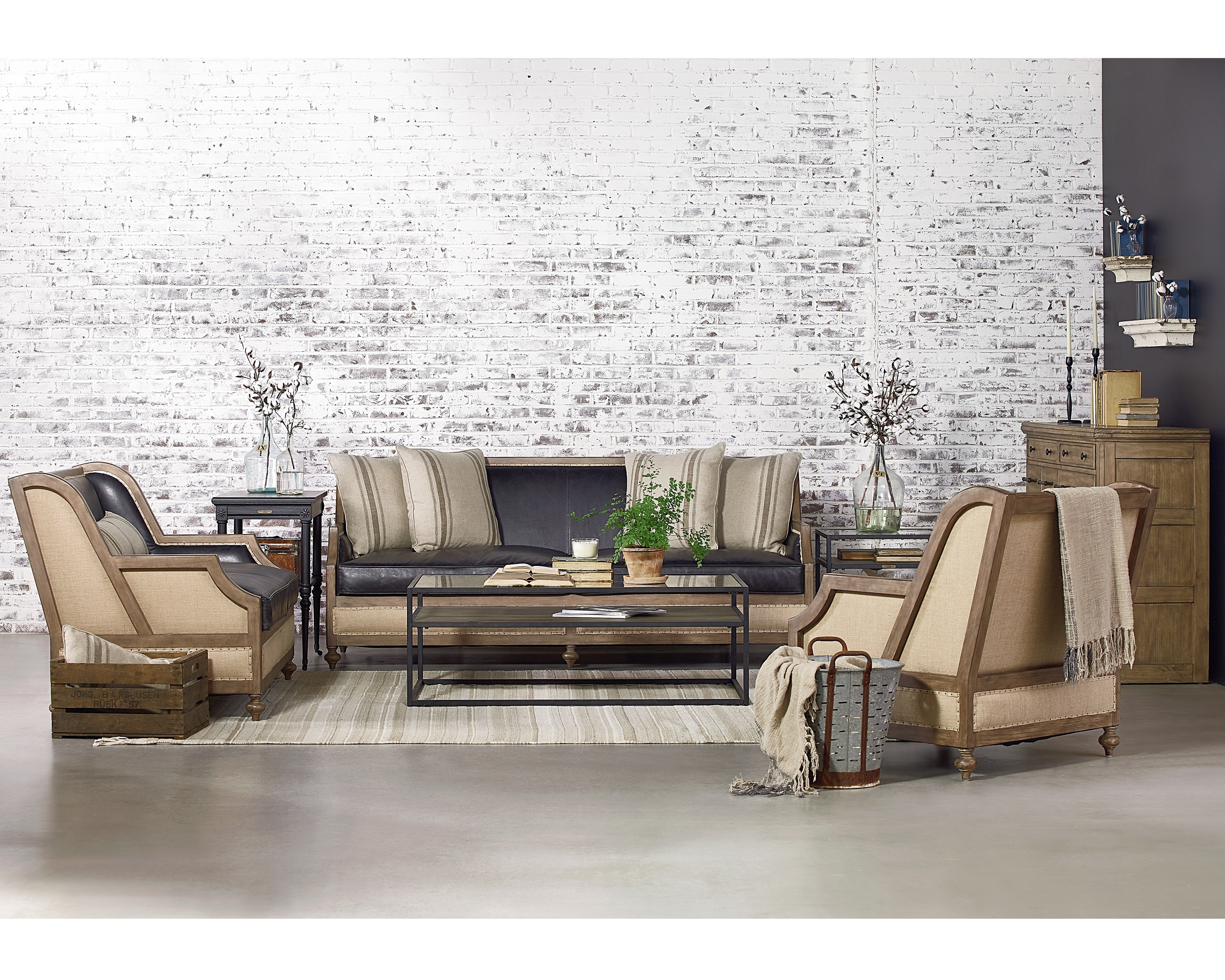 Featured Image of Magnolia Home Foundation Leather Sofa Chairs