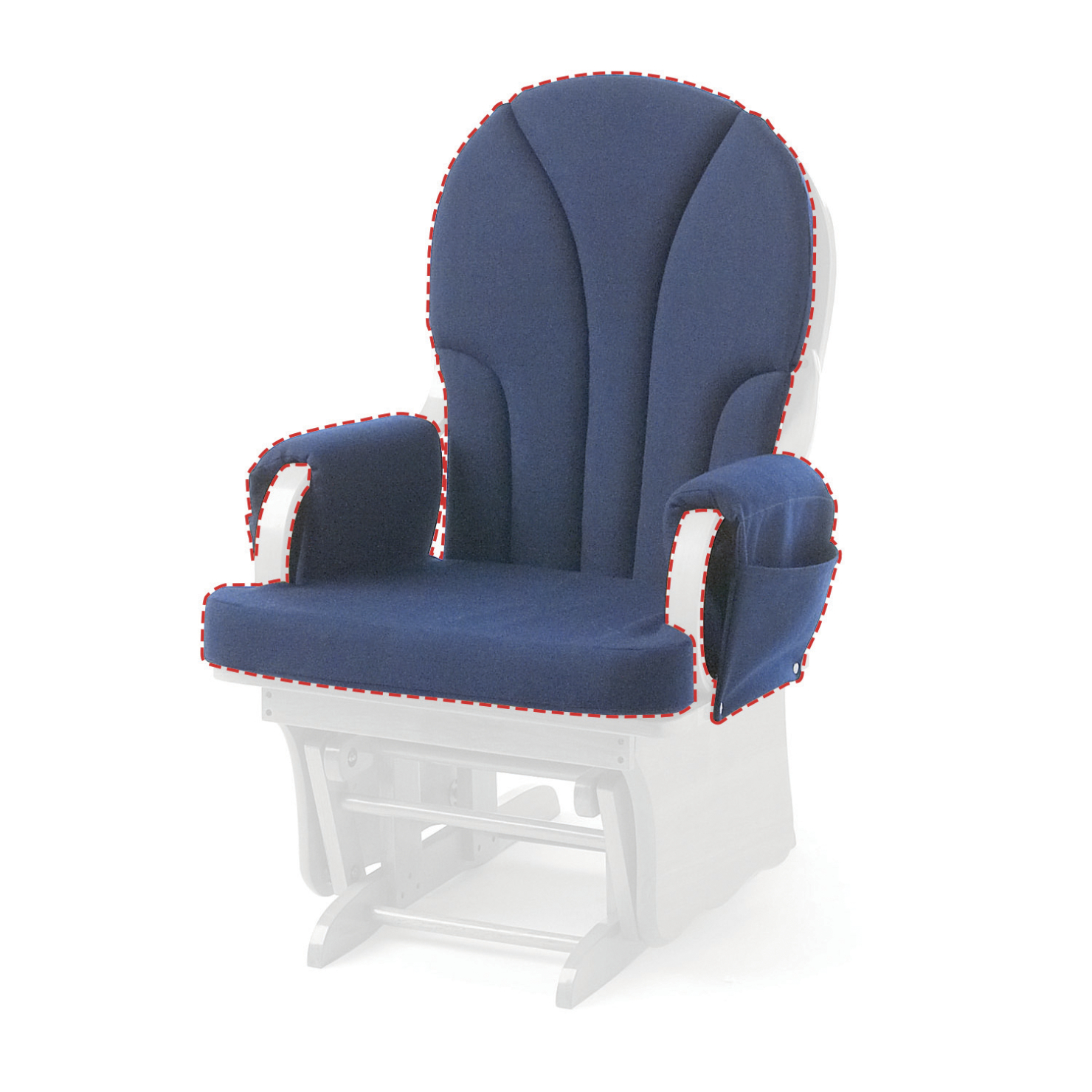 Featured Photo of Katrina Blue Swivel Glider Chairs
