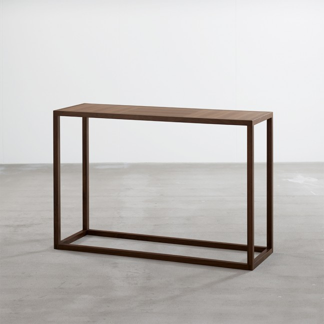 Frame Console Table In Walnut - Tables - Joined + Jointed in Recent Frame Console Tables
