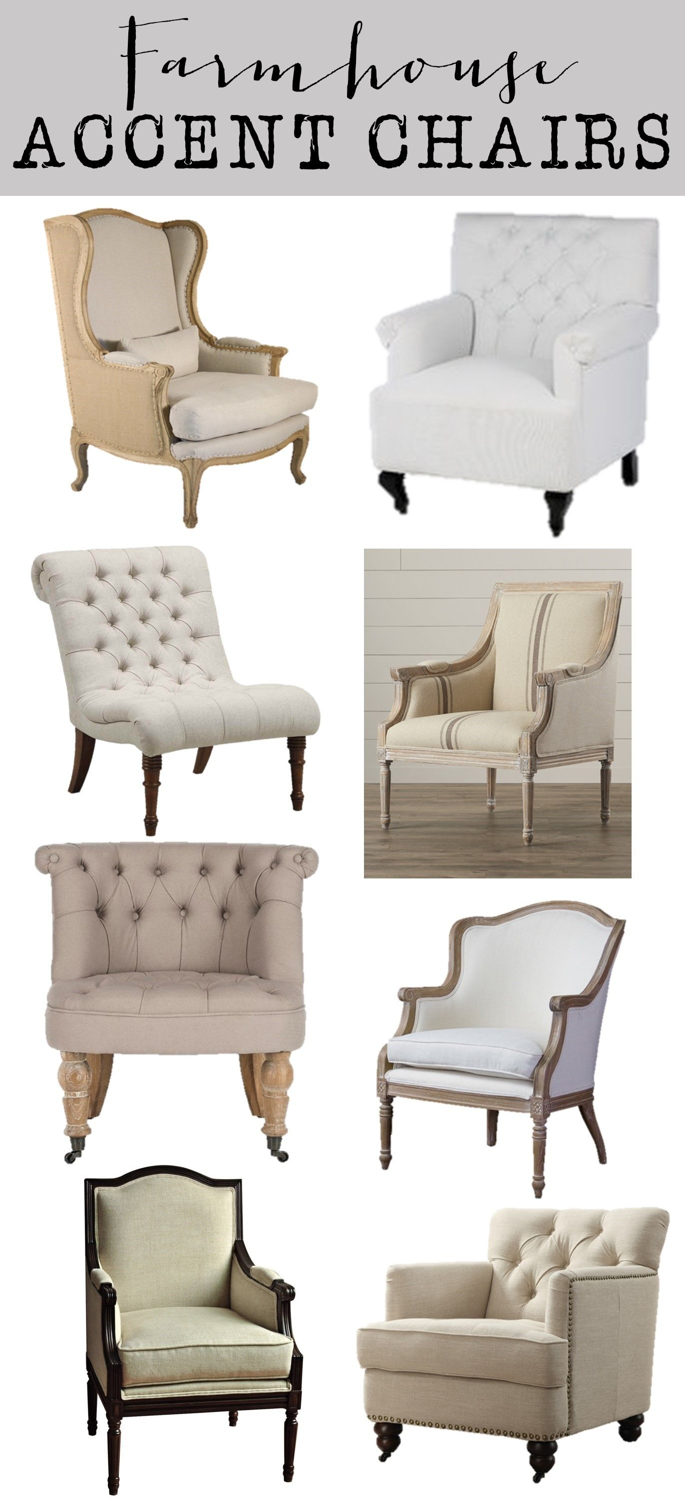 Friday Favorites: Farmhouse Accent Chairs – House Of Hargrove Throughout Nichol Swivel Accent Chairs (Image 6 of 25)