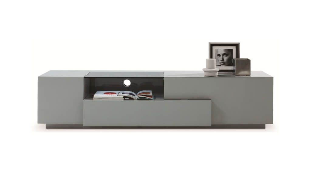 Furniture: Astounding Grey Modern Tv Stands With Box And Photo Within Most Recently Released Century White 60 Inch Tv Stands (Image 14 of 25)