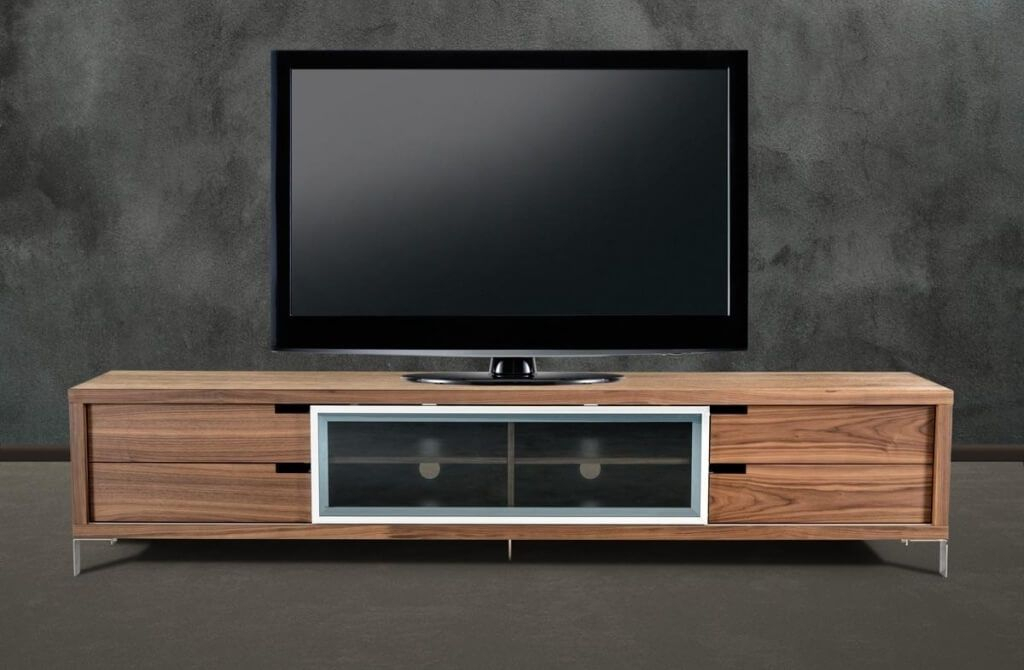 Furniture: Captivating Furniture Walnut Design Modern Tv Stands On In Most Current Modern Low Tv Stands (View 16 of 25)