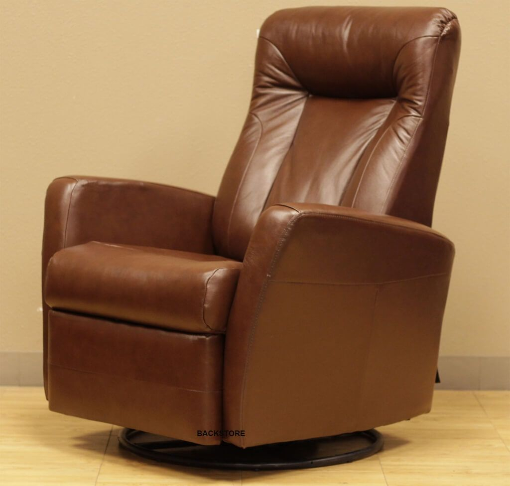 Furniture: Cheap High Back Brown Leather Rocker Recliner Swivel Throughout Espresso Leather Swivel Chairs (Image 14 of 25)