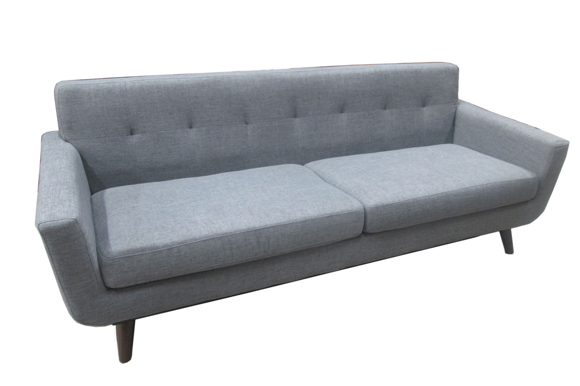 Furniture Iso Mid Century Milo Sofa Grey – Metroconnections Pertaining To Milo Sofa Chairs (View 12 of 25)
