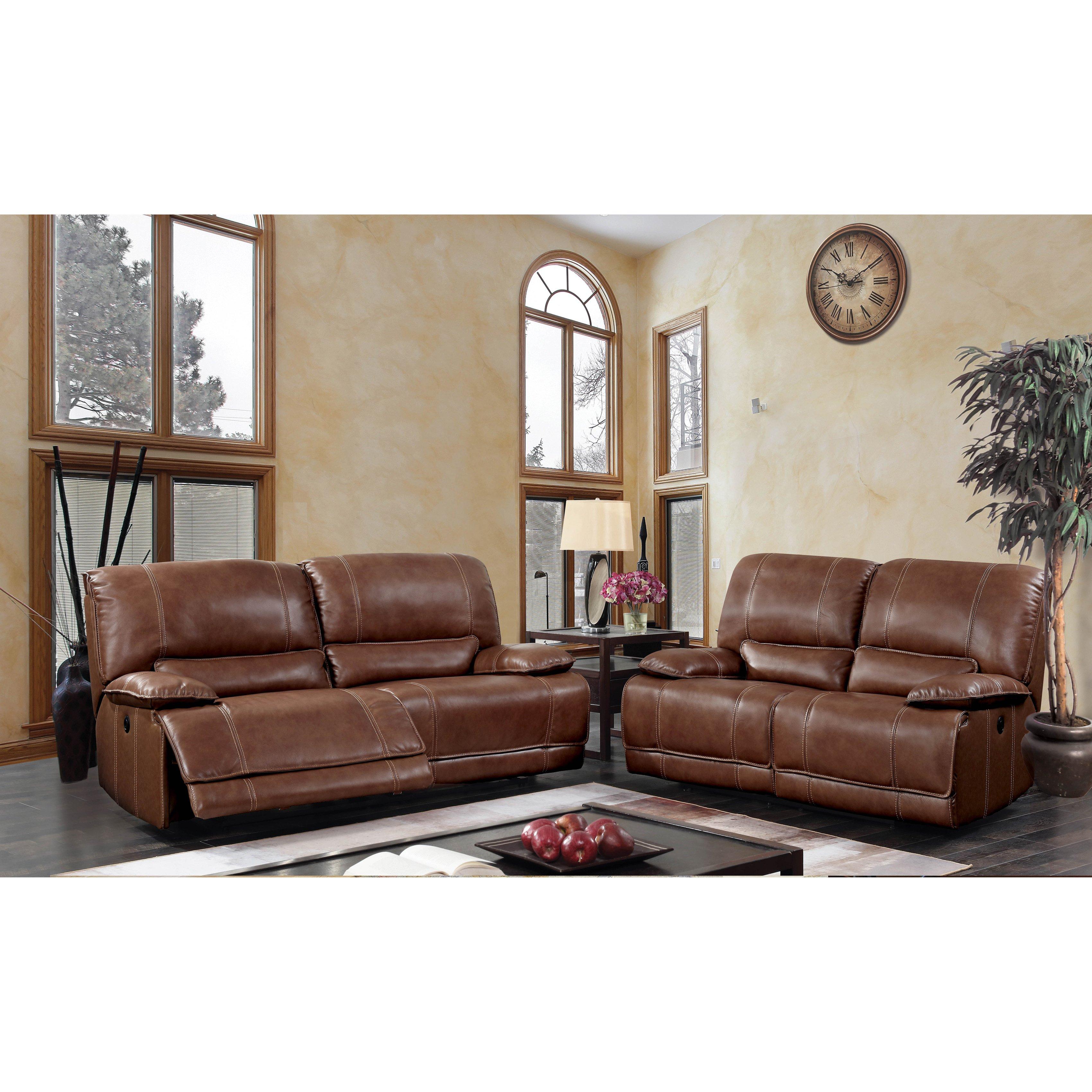 Furniture Of America Sierra Brown Usb Power Assist Loveseat – Free Within Sierra Foam Ii Oversized Sofa Chairs (View 22 of 25)