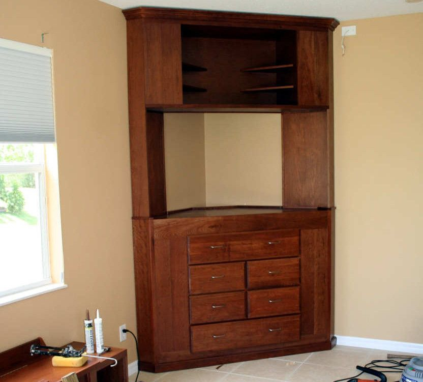 Furniture Pertaining To Recent Corner Tv Cabinet With Hutch (Image 16 of 25)