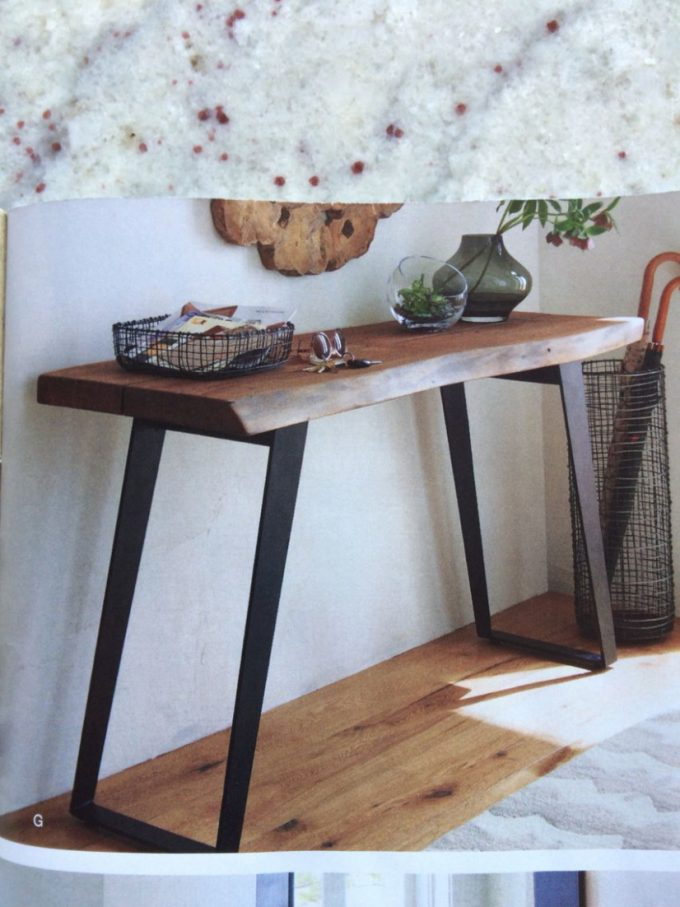 Furniture: Pretty Crate Barrel Console Table Your Residence Design Regarding Favorite Yukon Grey Console Tables (Image 8 of 25)