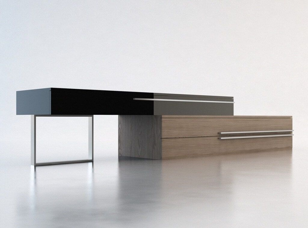 Furniture: Remarkable White Contemporary Tv Stand Featuring Attached With Most Up To Date Modern Low Tv Stands (View 14 of 25)