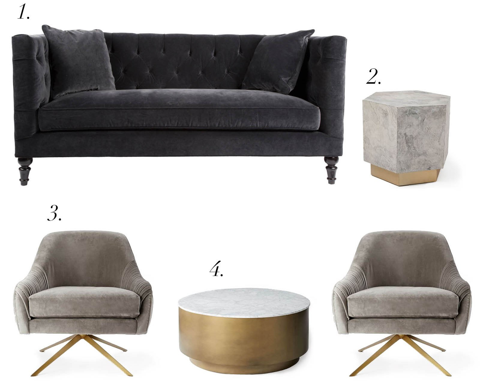 Furniture Shopping At West Elm + Rejuvenation – House Of Brinson With Regard To Elm Sofa Chairs (Image 18 of 25)