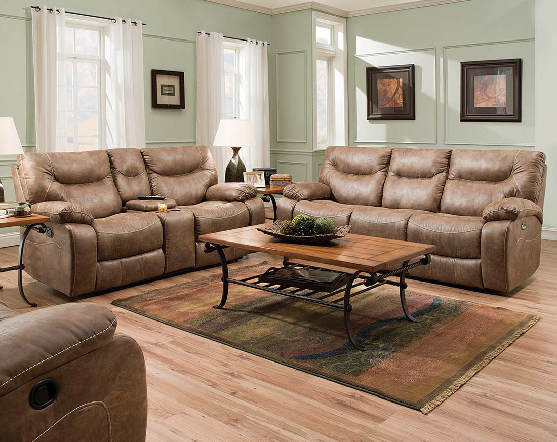 Furniture: Surprising Simmons Recliners For Contemporary Living Room Intended For Rogan Leather Cafe Latte Swivel Glider Recliners (Image 9 of 25)