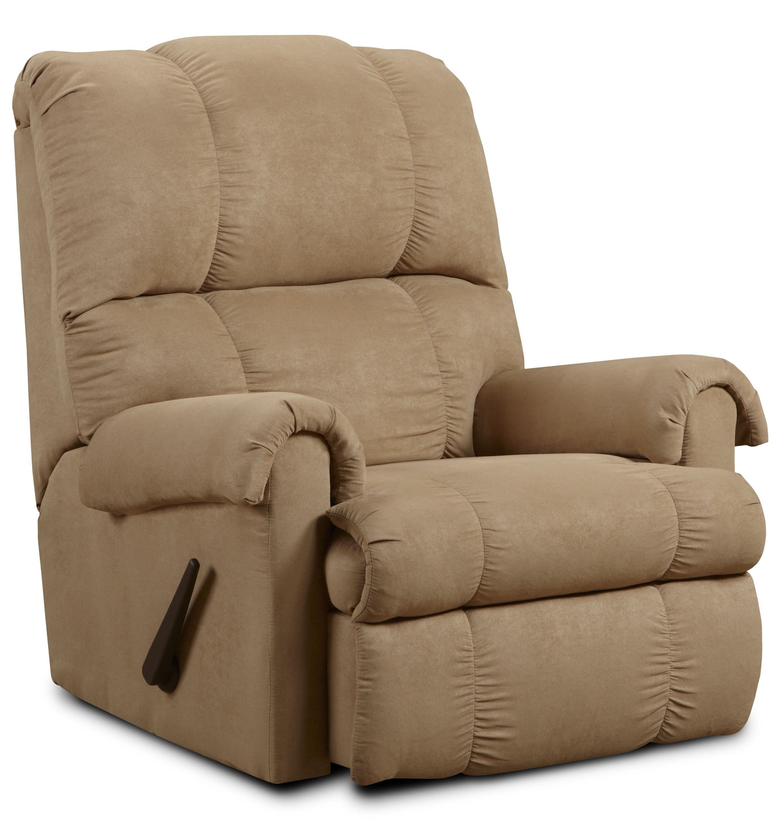 Furniture: Surprising Simmons Recliners For Contemporary Living Room Throughout Rogan Leather Cafe Latte Swivel Glider Recliners (Image 11 of 25)