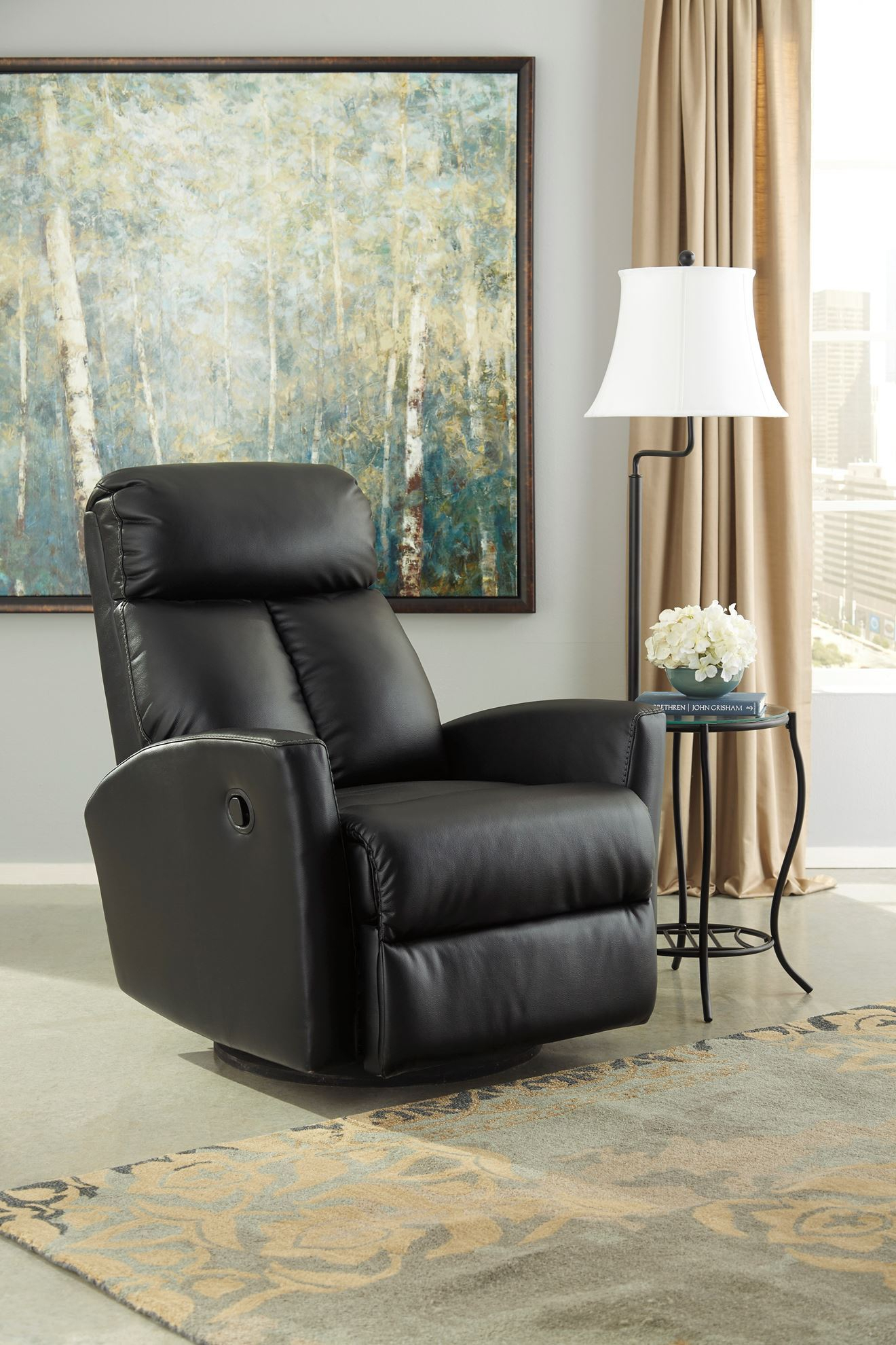 Furniture: Swivel Glider Recliner Is Perfect For Any Nursery Or Intended For Dale Iii Polyurethane Swivel Glider Recliners (View 16 of 25)