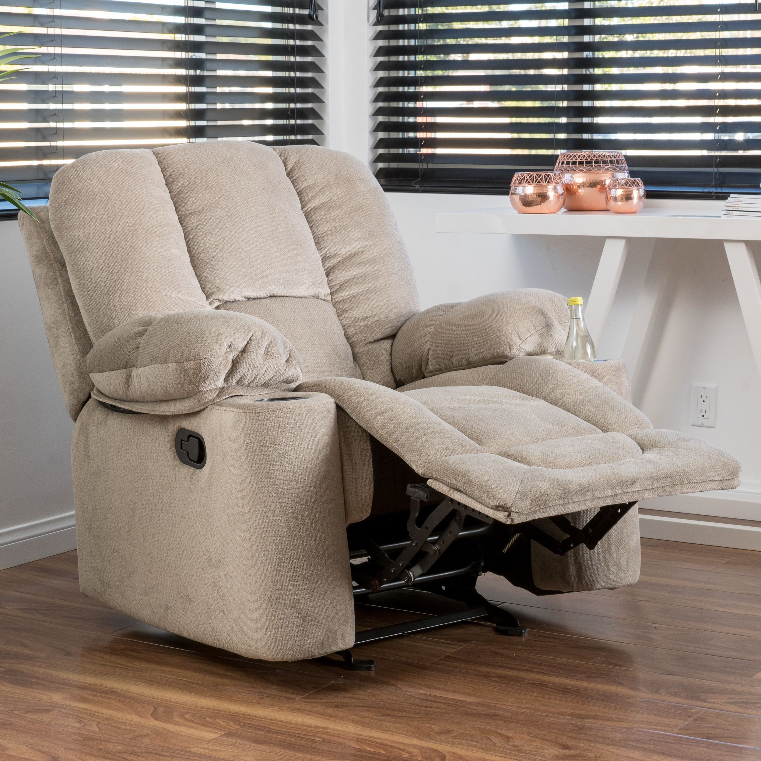 Gannon Fabric Glider Recliner Club Chairchristopher Knight Home With Gannon Linen Power Swivel Recliners (View 3 of 25)