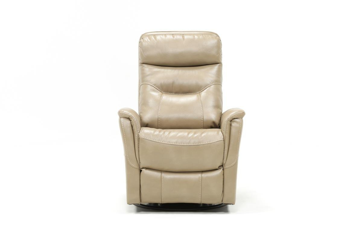 Gannon Linen Power Swivel Recliner W/built In Battery | Living Spaces Intended For Gannon Truffle Power Swivel Recliners (View 2 of 25)