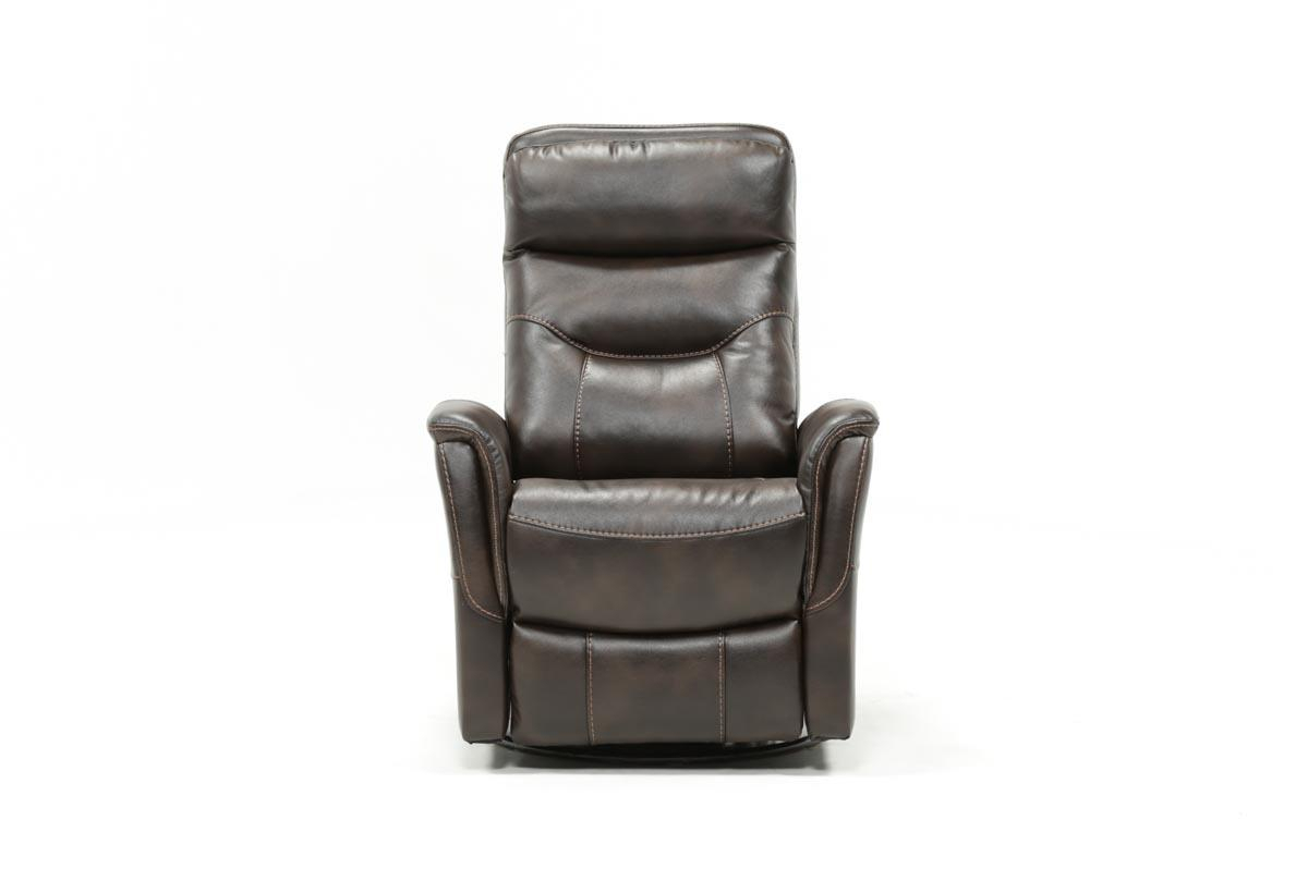 Gannon Truffle Power Swivel Recliner W/built In Battery | Living Spaces For Gannon Linen Power Swivel Recliners (View 2 of 25)