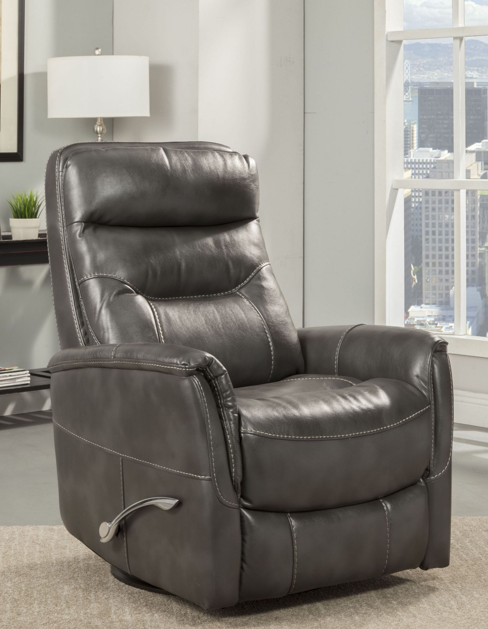 Gemini Flint Swivel Glider Recliner From Parker Living | Coleman in Hercules Oyster Swivel Glider Recliners