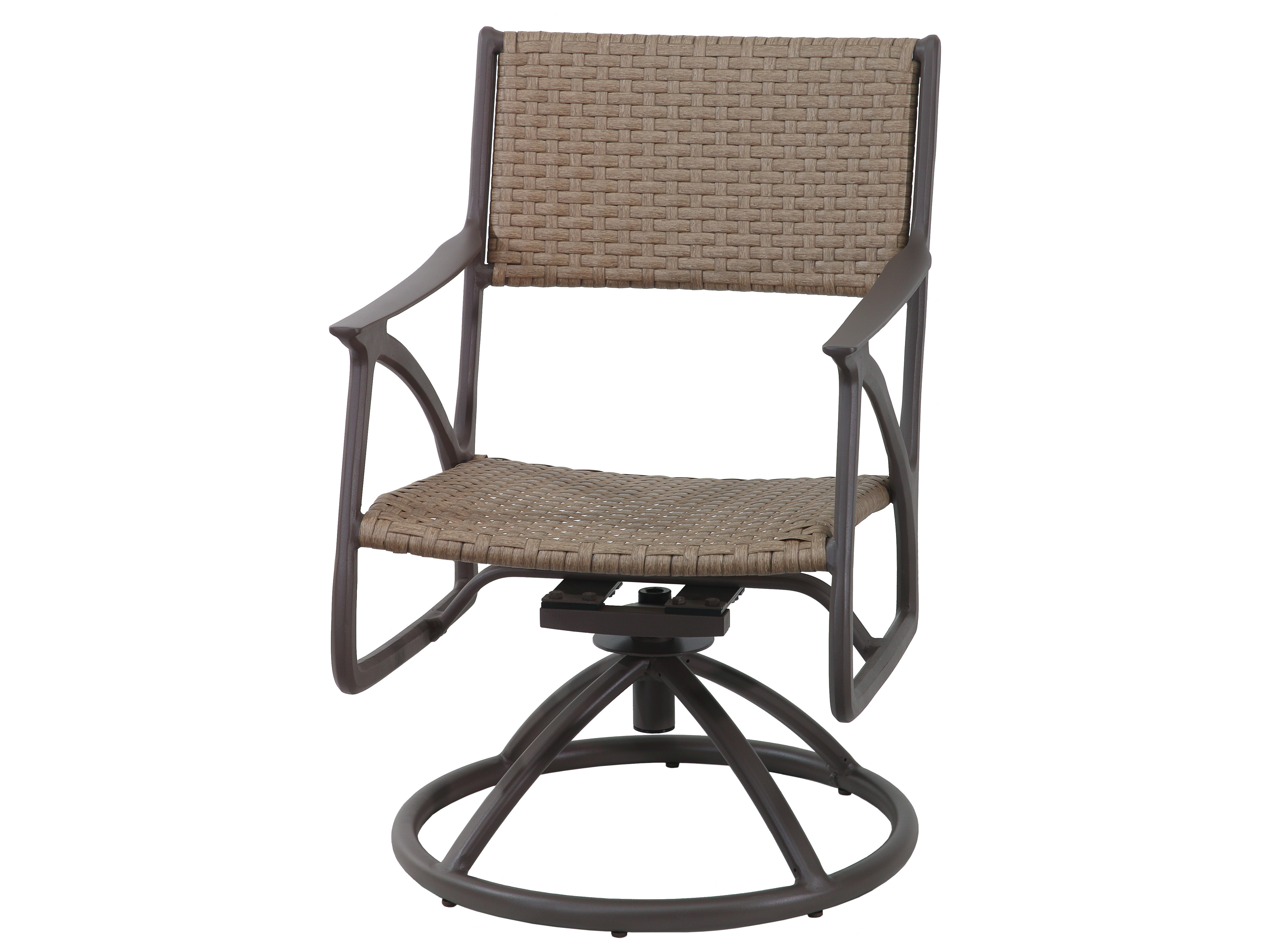 Gensun Amari Woven Aluminum Wicker Swivel Rocker | Ges70250011 Inside Amari Swivel Accent Chairs (View 21 of 25)