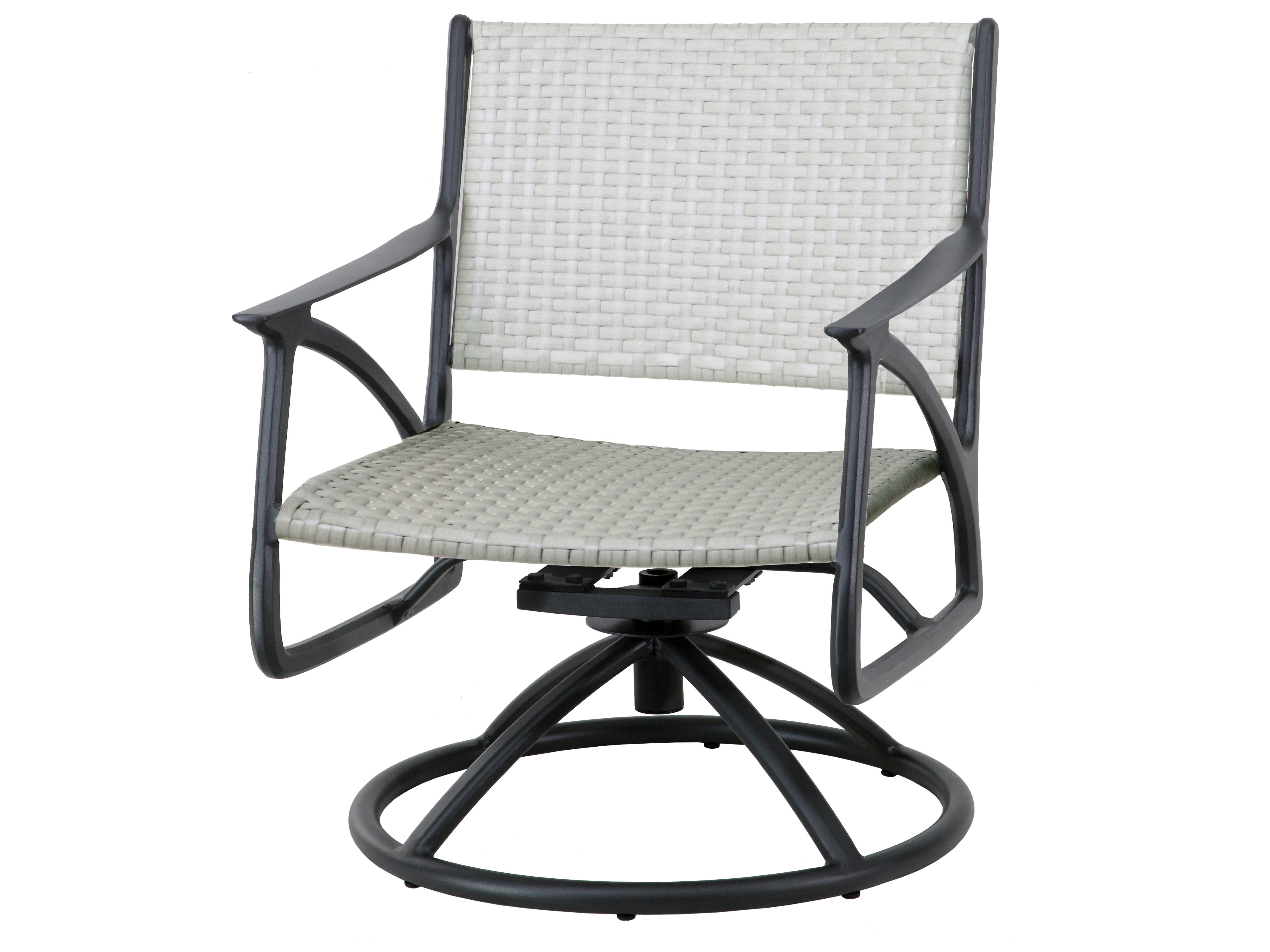 Gensun Amari Woven Aluminum Wicker Swivel Rocking Lounge Chair Within Amari Swivel Accent Chairs (View 24 of 25)