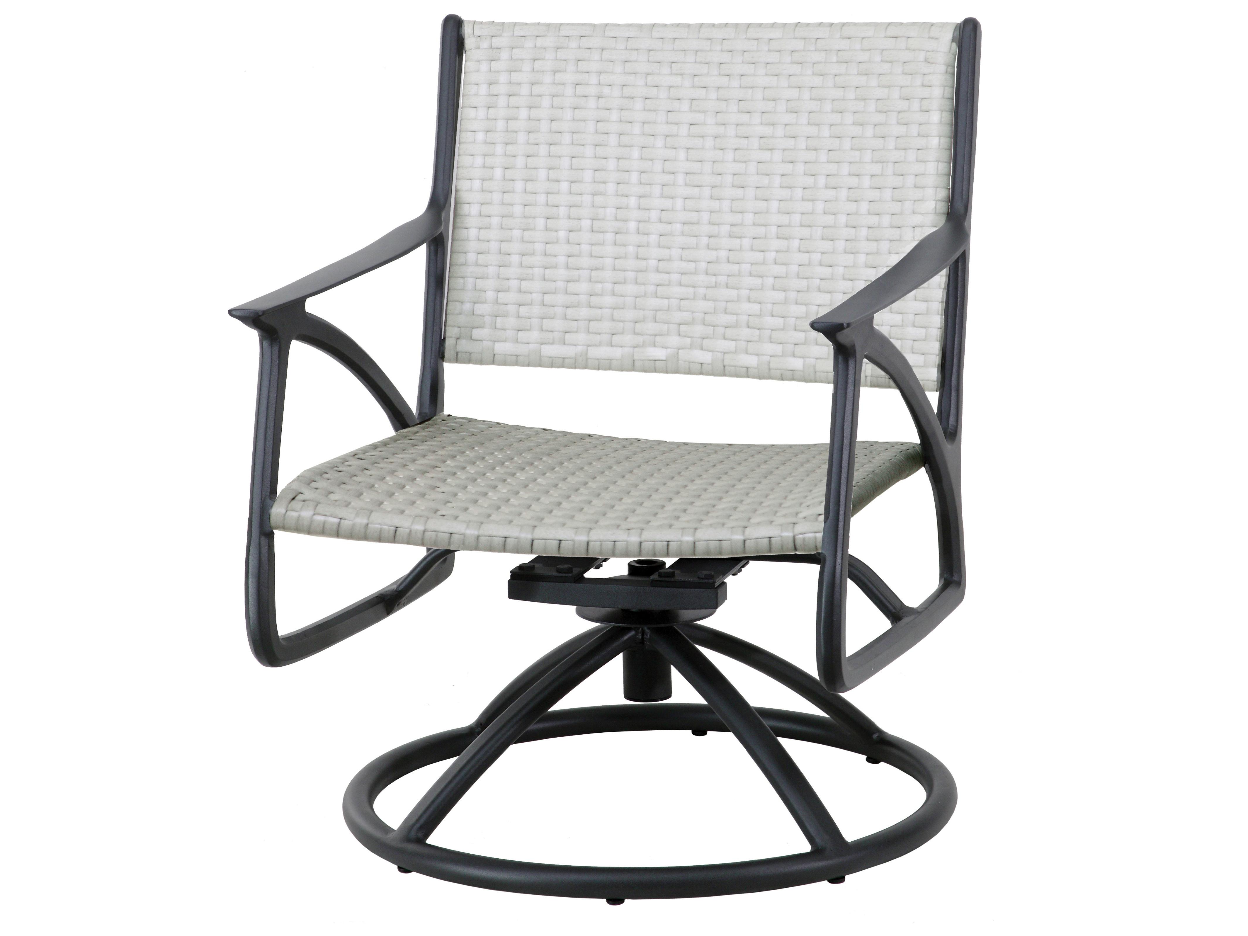 Gensun Amari Woven Aluminum Wicker Swivel Rocking Lounge Chair Within Amari Swivel Accent Chairs (Photo 24 of 25)