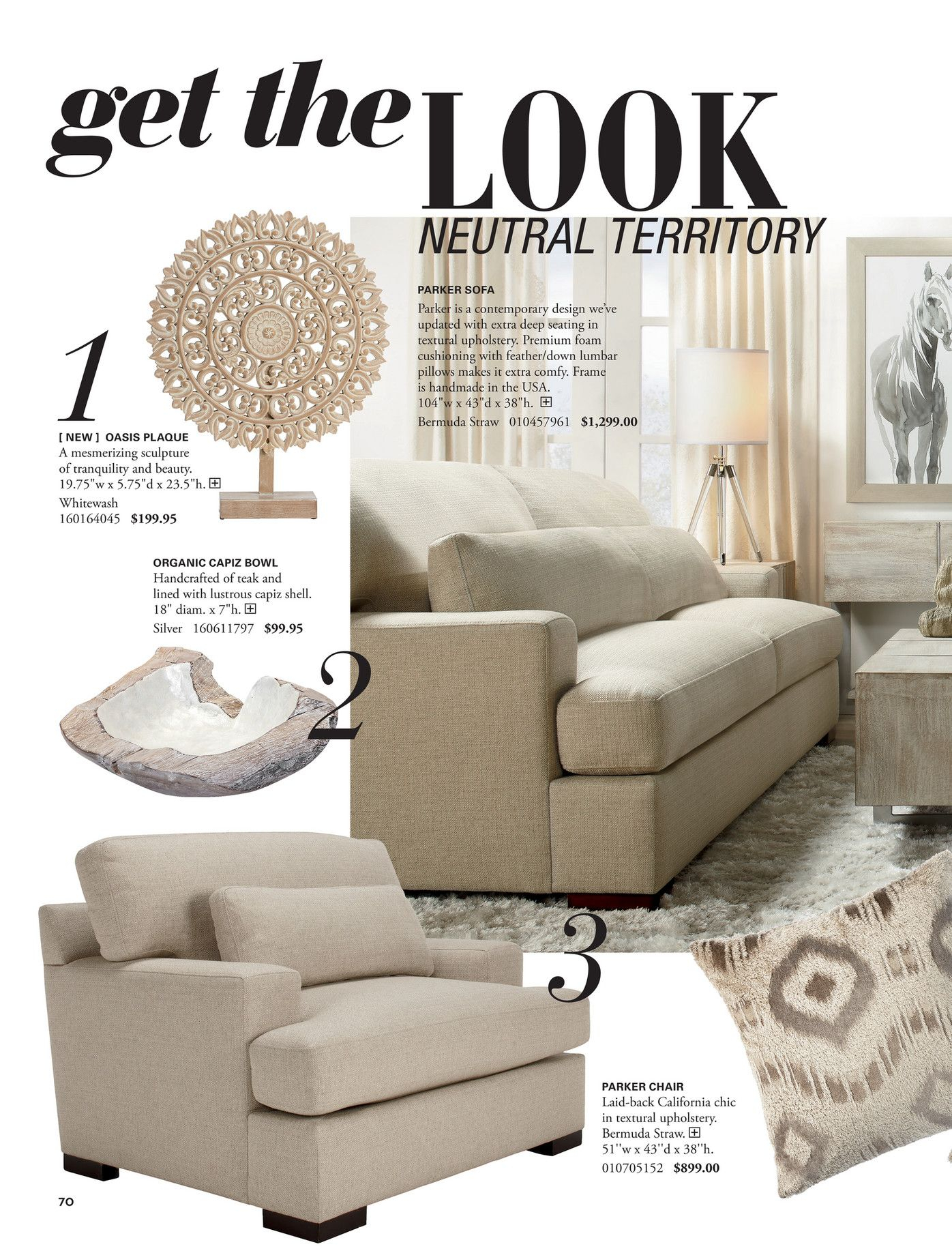 Get Thelook Neutral Territory Parker Sofa 1 Parker Is A Contemporary With Parker Sofa Chairs (Image 6 of 25)