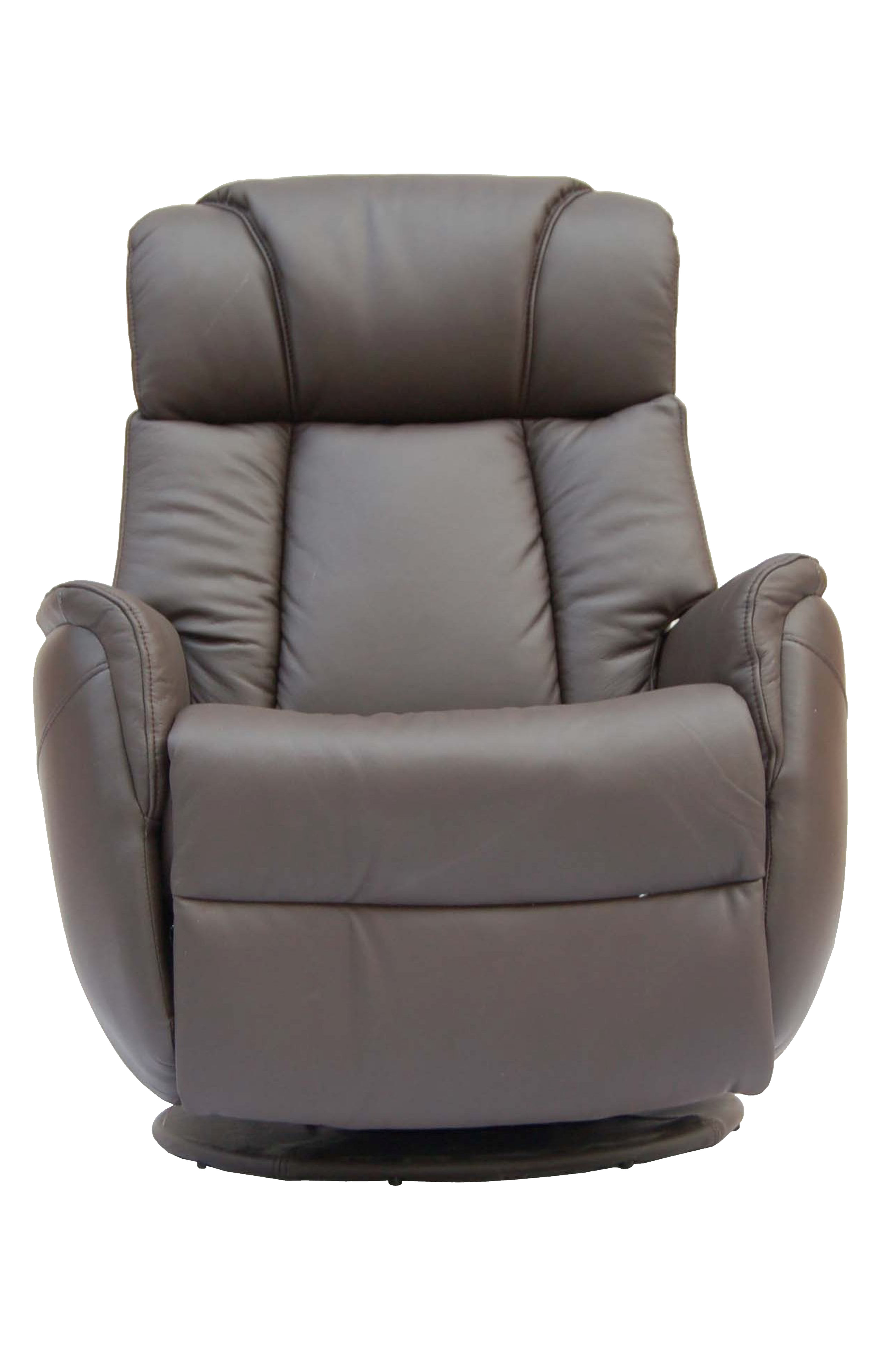 Gfa Sorrento Electric Rock & Swivel Leather Recliner Chair – Espresso Inside Espresso Leather Swivel Chairs (View 8 of 25)