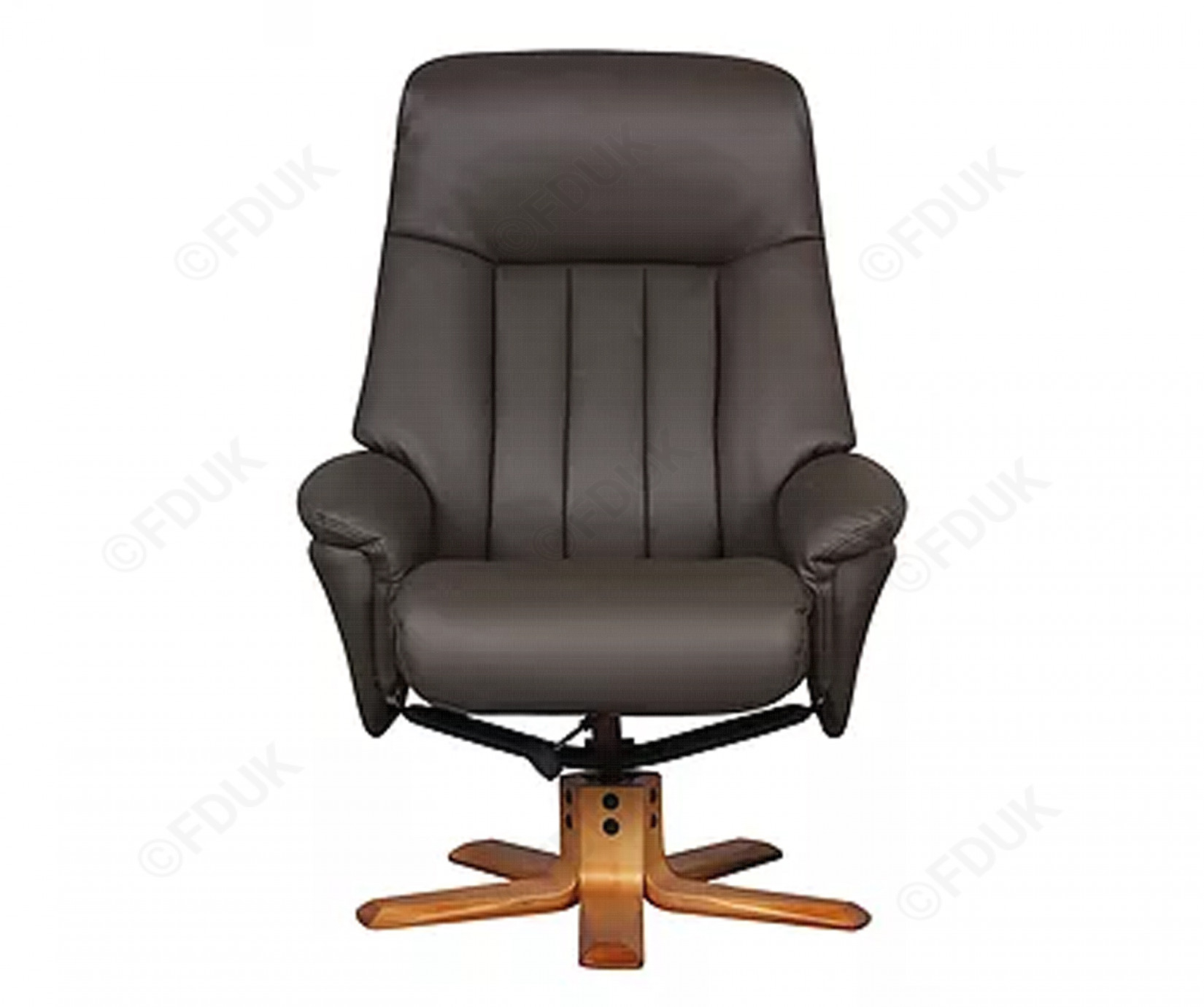 Gfa St Tropez | St Tropez Charcoal Leather Swivel Recliner Chair For Charcoal Swivel Chairs (View 14 of 25)