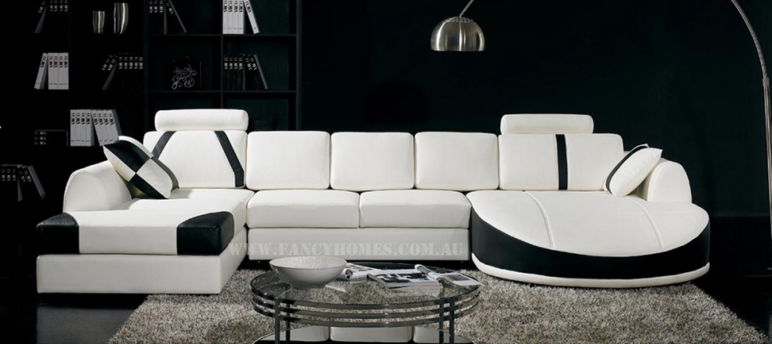 Gina | Fancy Homes Intended For Gina Grey Leather Sofa Chairs (Image 12 of 25)