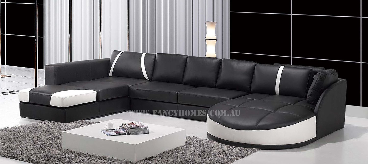 Gina | Fancy Homes Intended For Gina Grey Leather Sofa Chairs (Image 11 of 25)