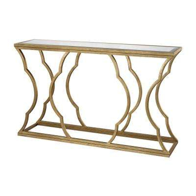 Glam – Console Tables – Accent Tables – The Home Depot In Newest Mix Agate Metal Frame Console Tables (View 13 of 25)
