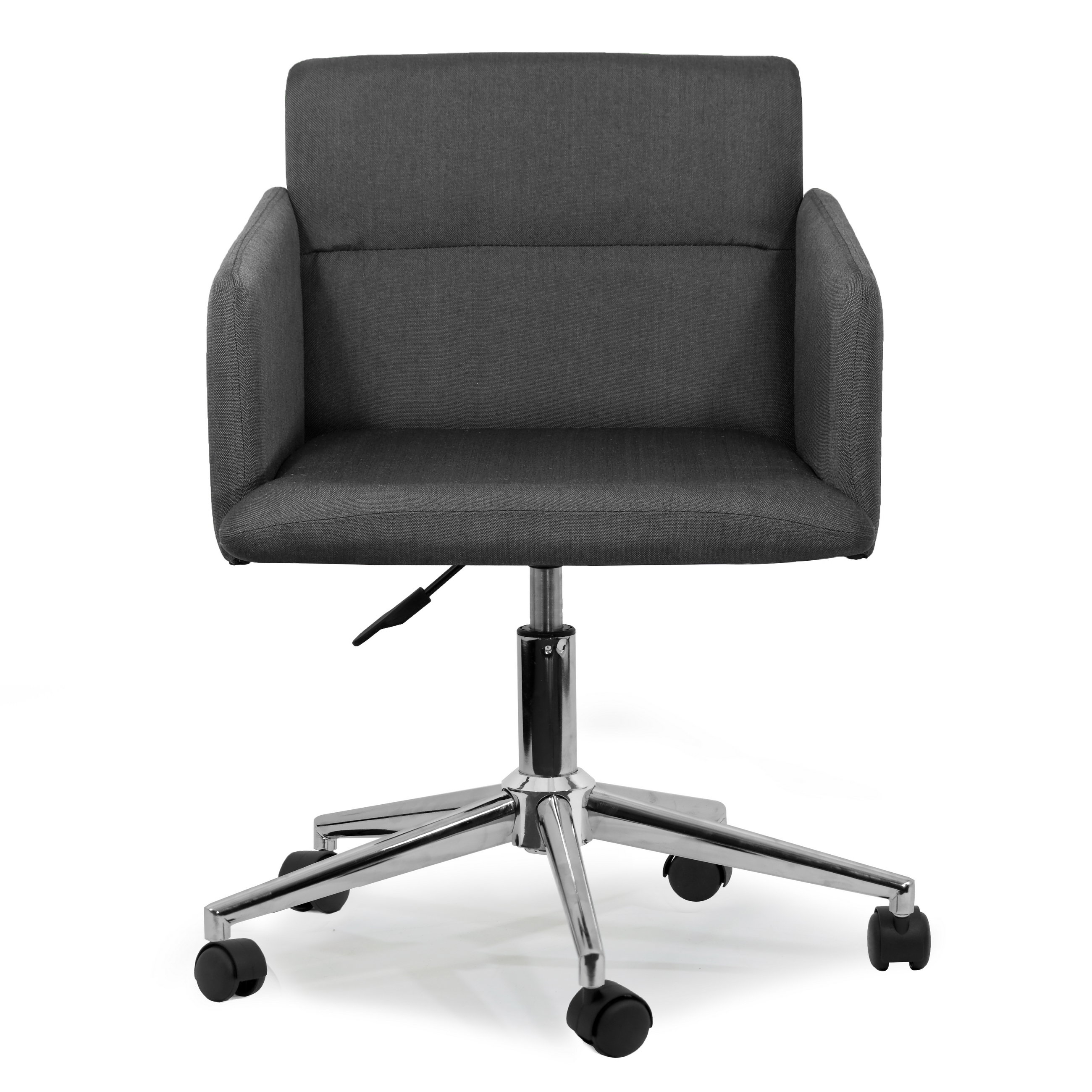 Glamour Home Decor Aila Low-Back Desk Chair | Wayfair intended for Aidan Ii Swivel Accent Chairs