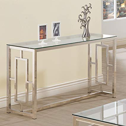 Glass Console Tables Far Fetched Elke Table With Brass Base Reviews intended for Preferred Elke Glass Console Tables With Brass Base