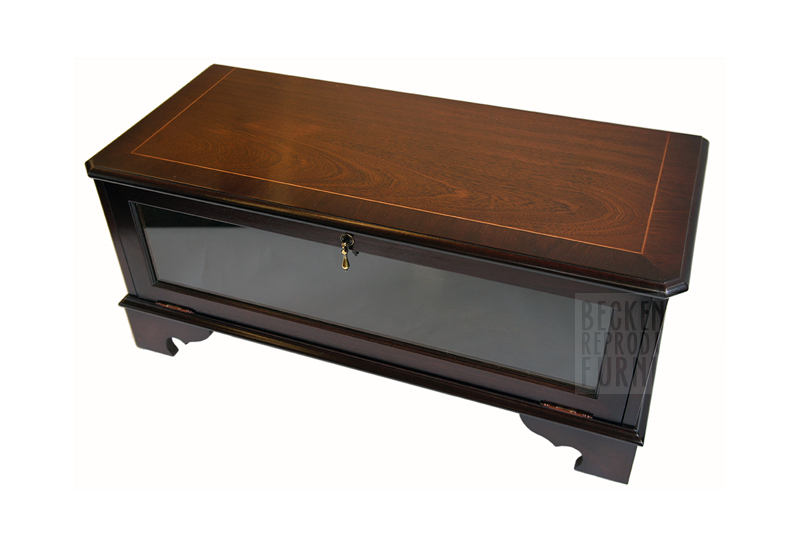 Glass Front Tv/video Box Cabinet (Mahogany Veneer) – Beckenham In Widely Used Glass Front Tv Stands (Image 6 of 25)