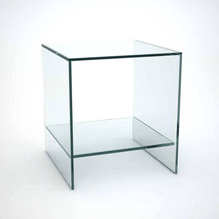 Glass Side Table – Odorokikarakon Pertaining To Famous Elke Glass Console Tables With Brass Base (Image 12 of 25)