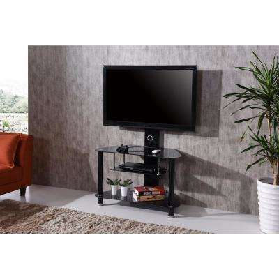 Glass - Tv Stands - Living Room Furniture - The Home Depot in Most Up-to-Date Maddy 60 Inch Tv Stands