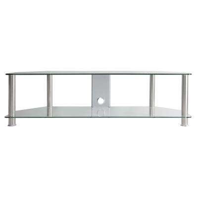 Glass - Tv Stands - Living Room Furniture - The Home Depot intended for Newest Maddy 70 Inch Tv Stands