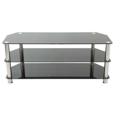 Glass - Tv Stands - Living Room Furniture - The Home Depot regarding Trendy Maddy 60 Inch Tv Stands