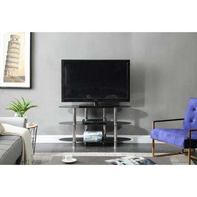 Glass – Tv Stands – Living Room Furniture – The Home Depot Throughout Latest Maddy 50 Inch Tv Stands (Image 3 of 25)
